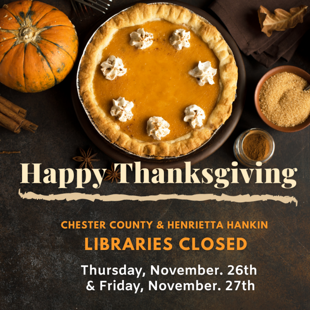Libraries Closed Thursday, November 26 & Friday, November 27